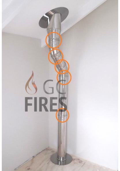 GC Fires - Flue parts & accessories - Flue Clamp - Atritube - closed combustion fireplace - 304 stainless steel (3)