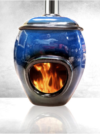 Earthfire fireplace blue - GC Fires