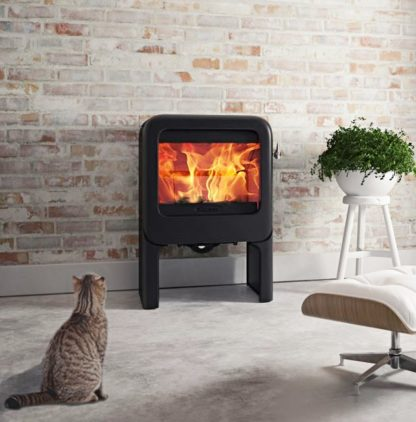 GC Fires - Dovre Rock 350TB (on tablet base) - wood-burning closed combustion fireplace - cast iron 2