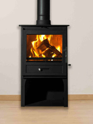 Sentinel Ottawa Compact with log stand - steel closed combustion fireplace (4)