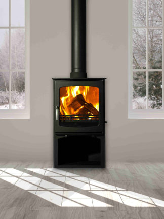 Sentinel Ottowa Curve with log stand - steel closed combustion fireplace (6)