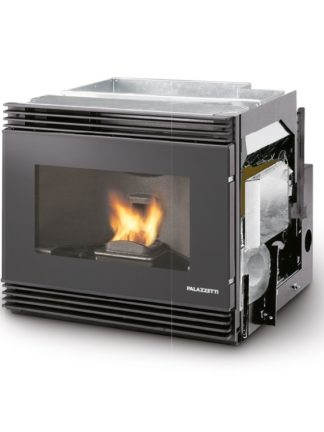 GC Fires - Palazzetti Ecofire Front Fan Panoramic Glass Pellet Insert 11.8kW - fan-assisted air heaing