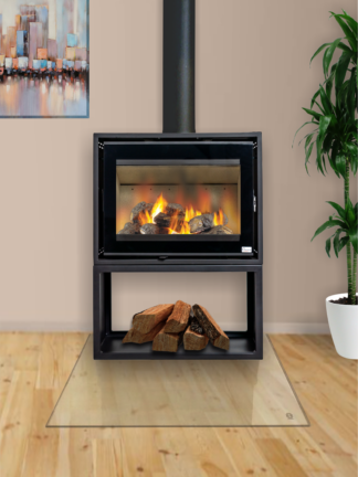GC Fires - Northern Flame Kenna 65 10kW freestanding closed combustion fireplace - wood stand - convection box (1)