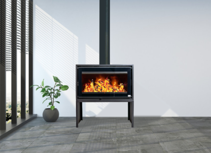GC Fires - Northern Flame Kenna 82 13kW freestanding closed combustion fireplace - bench stand - convection box
