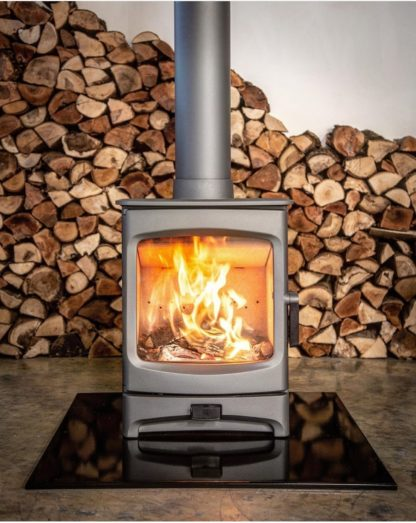 Charnwood Aire 5 low stand - SIA Eco design closed combustion fireplace - Pewter (1)