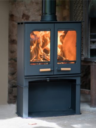Northern Flame Panoramic Twin Door with stand 7kW Slimine Ecosy - SIA Eco Design ready - closed combustion fireplace (3)2