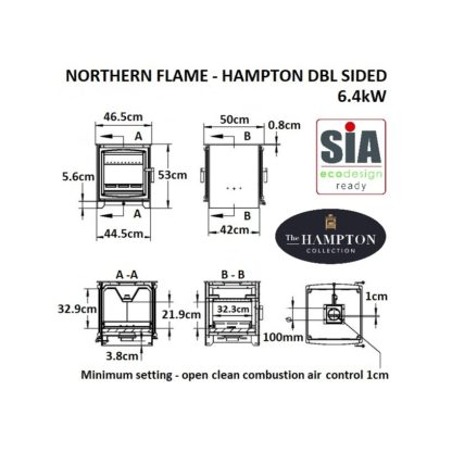 GC Fires - Hampton 6.4kW Double-sided - Defra approved - Ecodesign-ready 2022 -wood-burning- closed combustion fireplace (4)